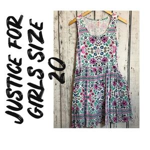 Justice for girls flower dress, Sumer , size 20